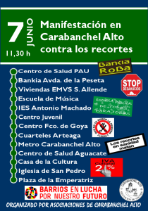 Cartel 7J con pegatinas y logo AAVV y Barrio en lucha (2)