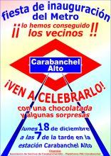 fiesta inauguracion_Metro carabanchel Alto