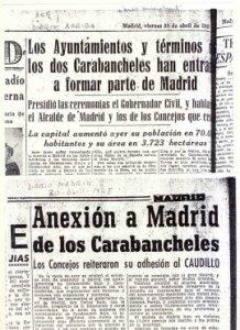 anexión de carabanchel a Madrid