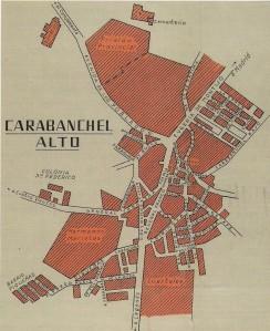 Plano de Carabanchel Alto en 1958 (Biblioteca Nacional)