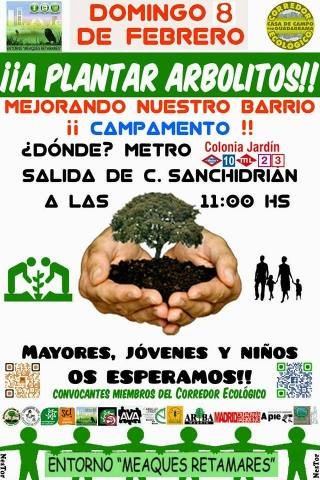 A plantar árboles 8 de febrero Corredor ecológico campamento