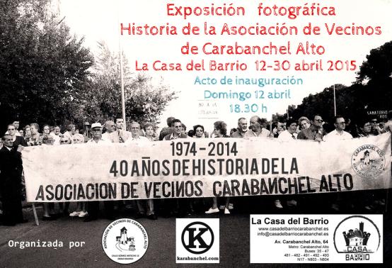 Cartel exposición fotográfica 40 años de historia de la Asociación de Vecinos Casa del Barrio