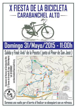 X Fiesta de la bicicleta en Carabanchel Alto 31 de mayo