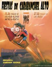 Cartel  FIESTAS DE CARABANCHEL ALTO JUNIO 2015