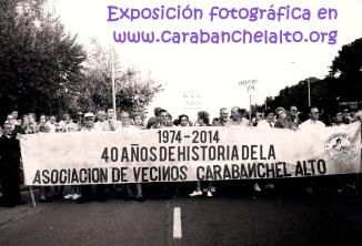 Cartel exposición fotográfica 40 años de historia de la Asociación de Vecinos en la web