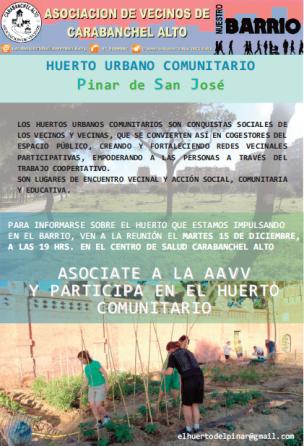 Reunión Huerto Urbano Pinar de San José