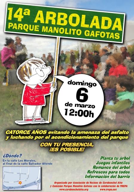 Cartel 14 arbolada Parque Manolito Gafotas