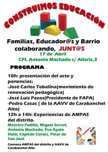 Jornada educación Carabanchel
