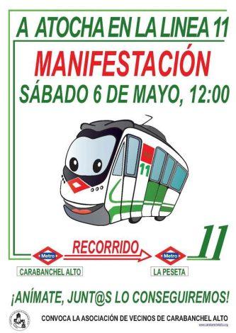 Manifestación por la ampliación de la línea 11 hasta Atocha el 6 de mayo.jpg