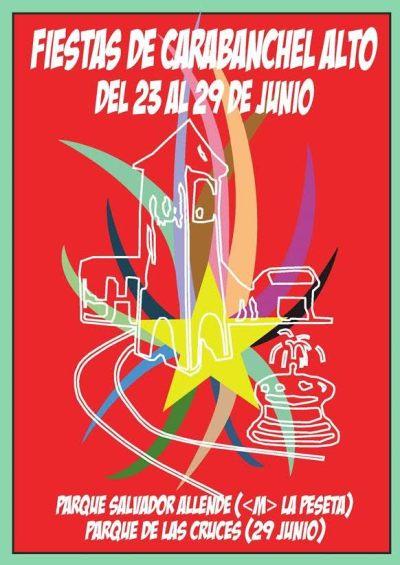 Cartel Fiestas de Carabanchel Alto 2017
