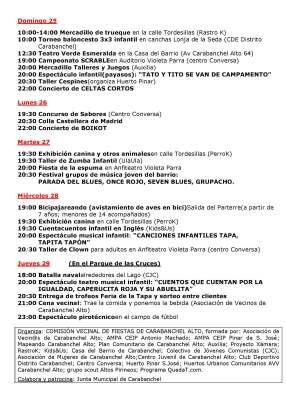 Programa Fiestas Carabanchel Alto 2017 P2