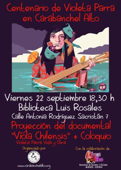 Proyección del documental Viola Chilensis web