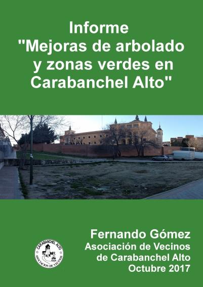Informe Mejoras de arbolado y zonas verdes en Carabanchel Alto