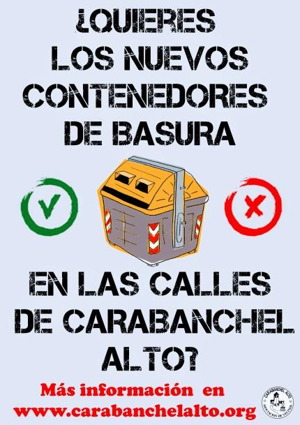 Nuevos contenedores de basura en Carabanchel Alto