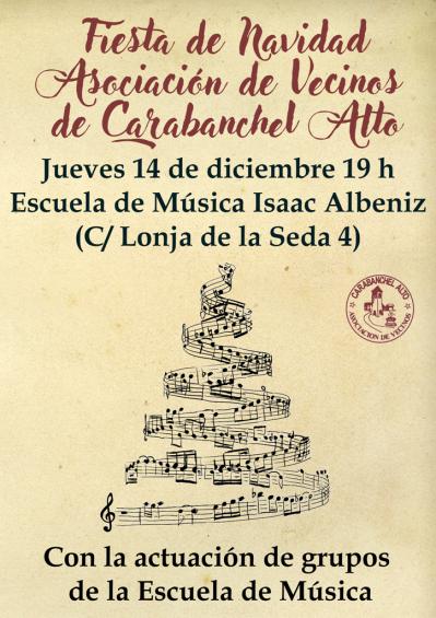 Cartel fiesta de Navidad Asociación de Vecinos