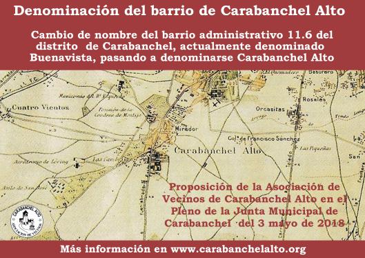 Proposición Cambio de nombre Carabanchel Alto
