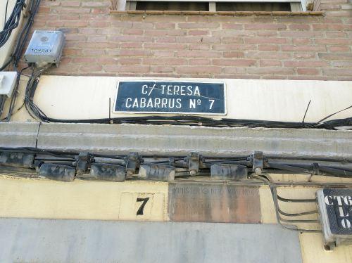 Placa Calle Teresa Cabarrús