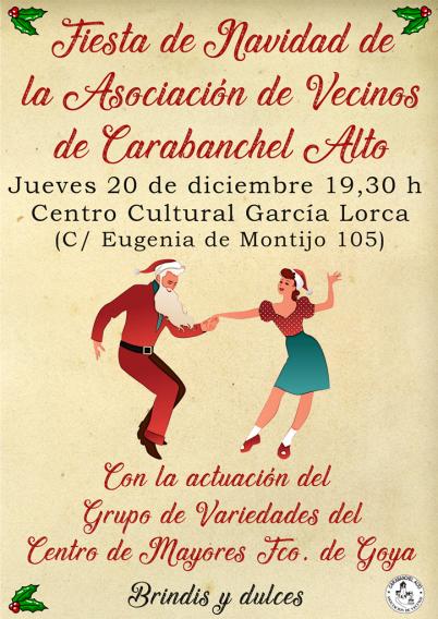 Cartel web Fiesta de Navidad AV Carabanchel Alto 2018