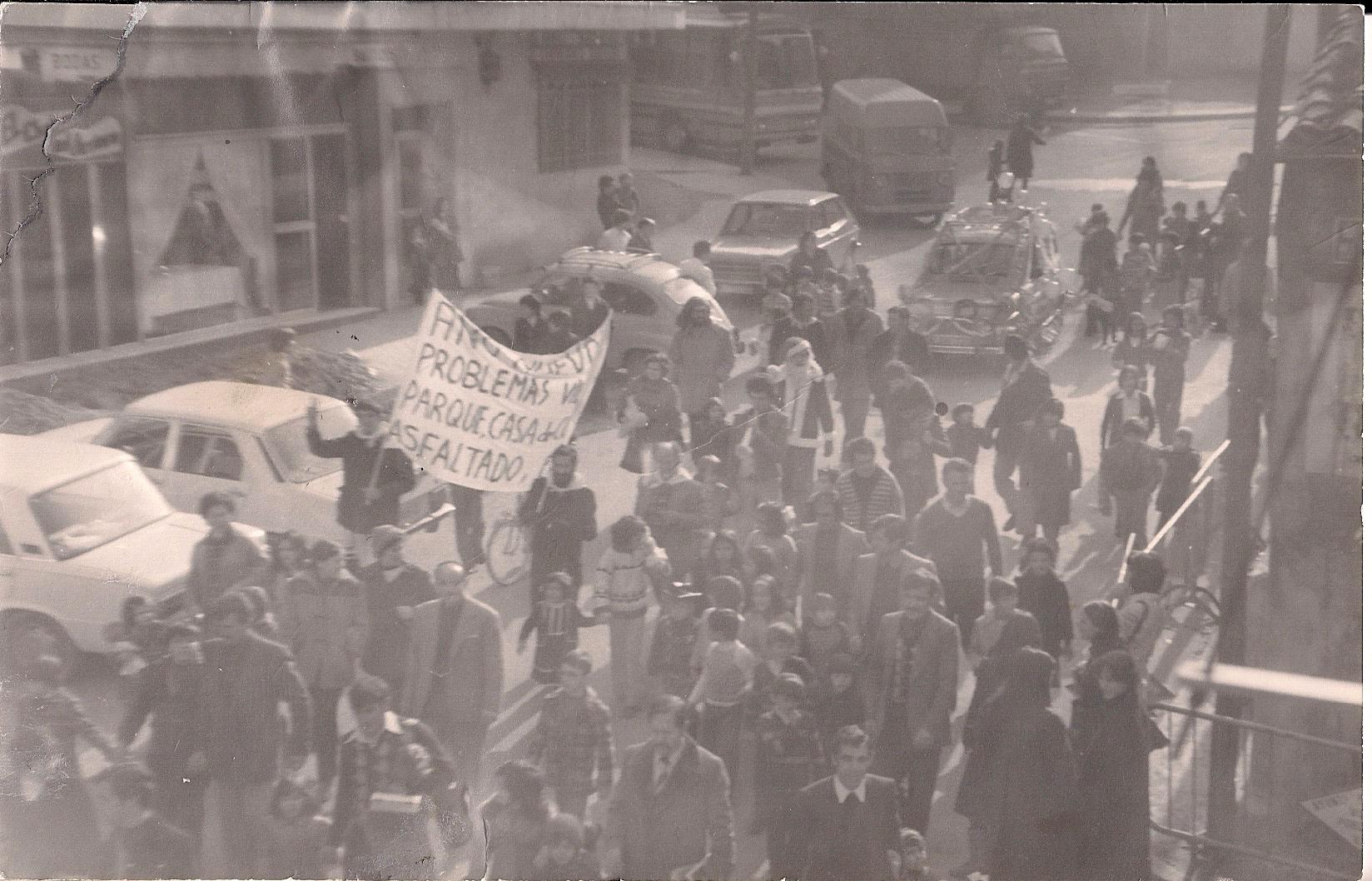 Manifestación en los año 70